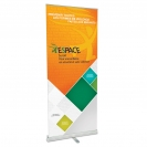 "33.5"" w x 82"" h Retractable Banner & Stand"